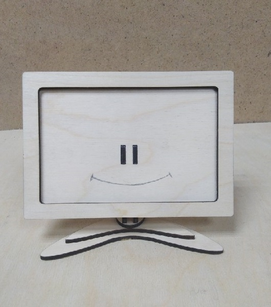 Laser Cut Photo Frame With Stand Free Vector