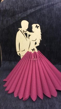 Laser Cut Couple Napkin Holder Tissue Paper Holder For Dining Table Free Vector