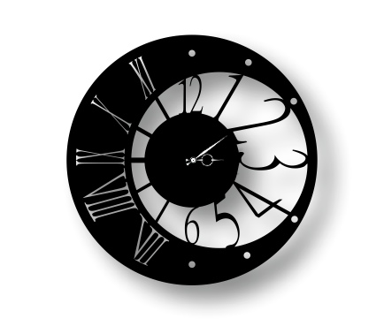 Laser Cut Contemporary And Modern Wall Clock Free Vector