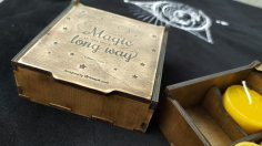 Laser Cut Small Gift Box With Lid 3mm Free Vector