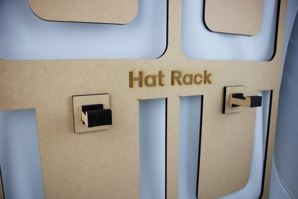 Laser Cut Hat Rack 5mm MDF DXF File