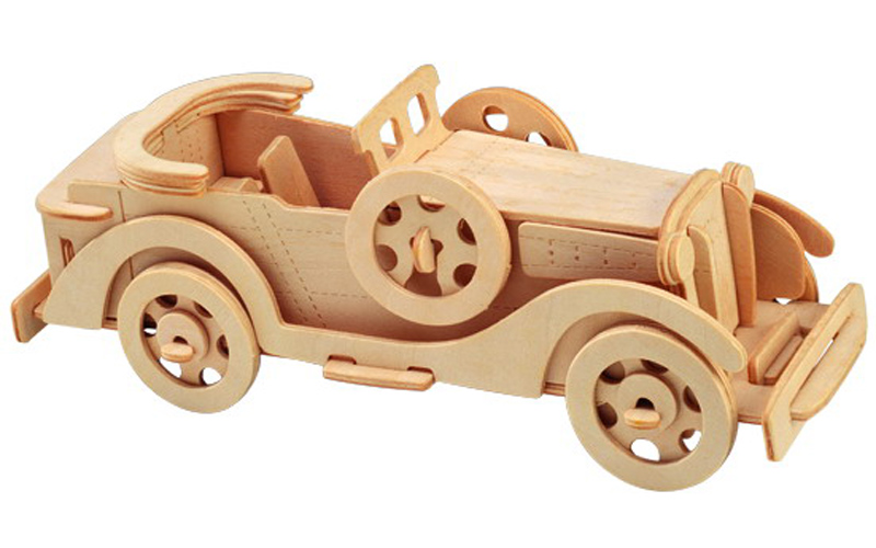 Laser Cut Packard Twelve Car Model 3D Wooden Puzzle Kids Toys Gifts Free Vector
