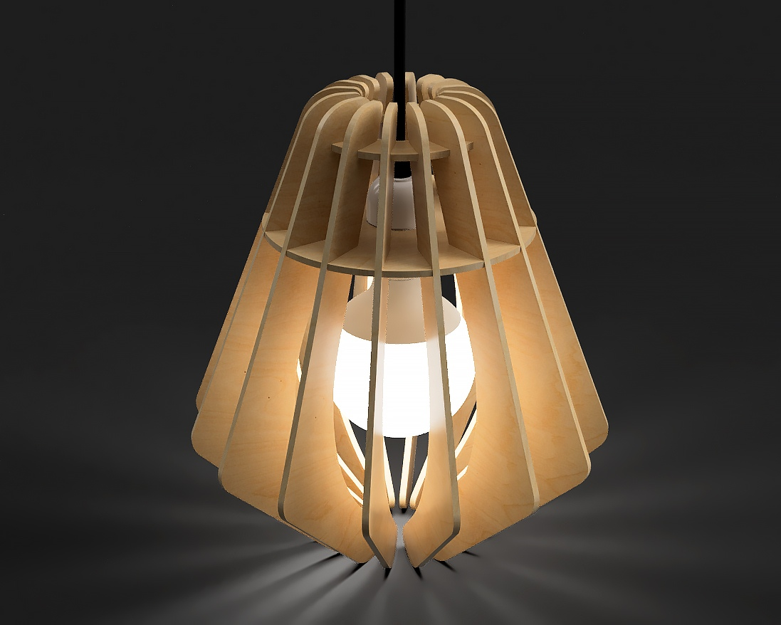 Laser Cut Pendant Lamp Free Vector