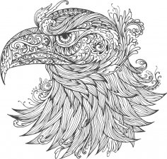 Ornamental Eagle Vector Free Vector