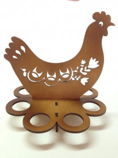 Easter Egg Tray Holder Stand Chicken Laser Cut Free Vector