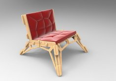 Laser Cut Chair Sofa 20mm DXF File