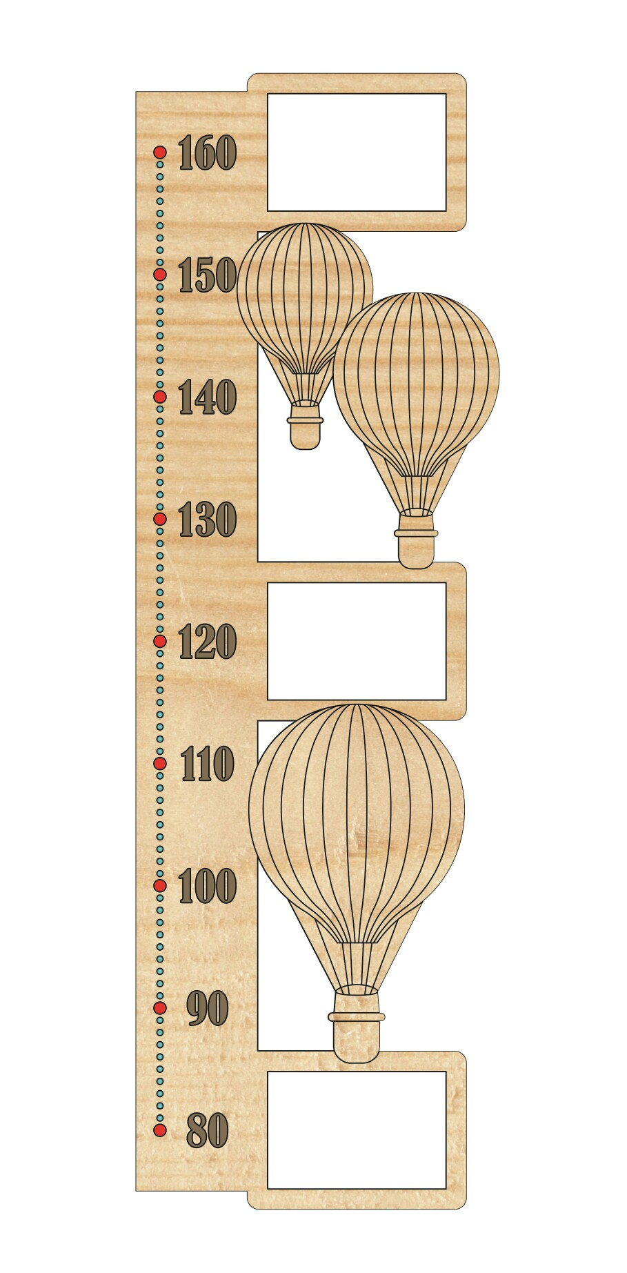 Rostomer Height Chart DXF File