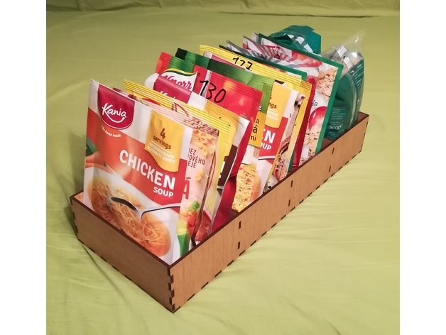 Laser Cut Food Bags Organizers DXF File