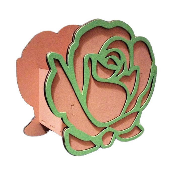 Laser Cut Rose Shaped Box Valentine's Day Gifts Valentine Flower Box Free Vector