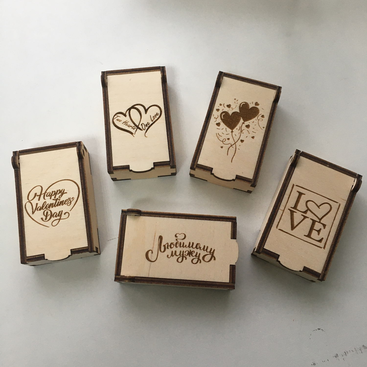 Laser Cut Valentine's Day Gift Boxes 3mm Free Vector