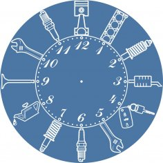 Laser Cut Car Service Workshop Repair Garage Owner Wall Clock Free Vector