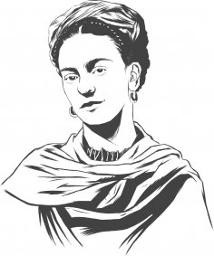 Frida Kahlo Vector Art Free Vector