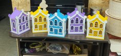 Laser Cut House Money Box 3mm DXF File