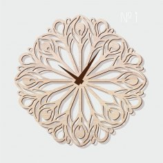 Laser Cut Wall Clock Template Free Vector