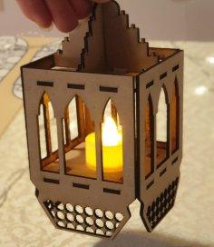 Laser Cut Ramadan Decorative Wooden Lantern PDF File