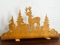Laser Cut Christmas Window Decorations Free Vector