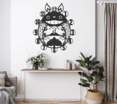 Laser Cut My Neighbor Totoro Wall Clock DXF File