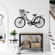 Laser Cut Bicycle Wall Decor Free Vector