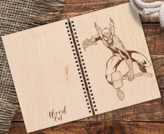 Laser Cut Notebook Cover With Spiderman Engraving Free Vector