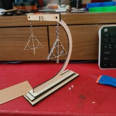 Laser Cut Simple Earring Display Stand SVG File