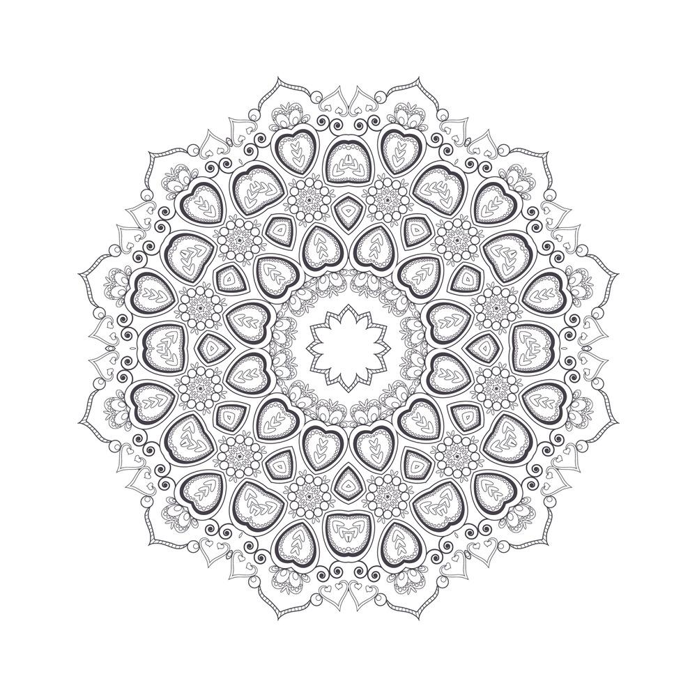 Mandala For Coloring 8 Free Vector