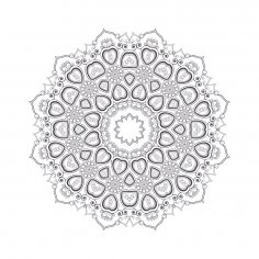 Mandala For Coloring 8 EPS File