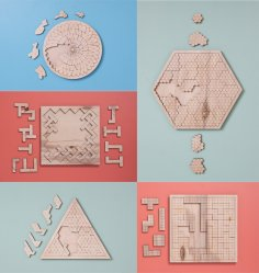 Puzzles for Kids Plywood 6 mm Free Vector