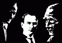 Ataturk Silhouettes Free Vector