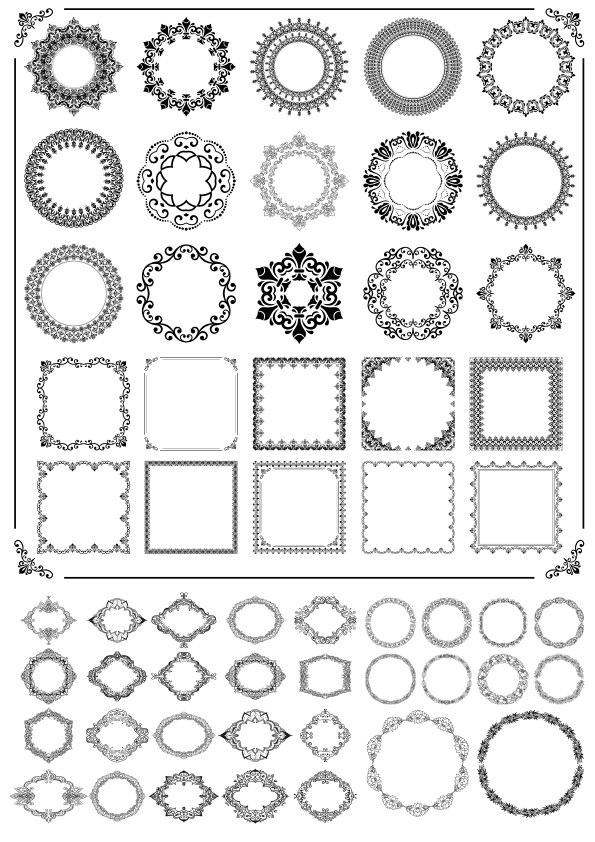 Ornamental Frames Free Vector