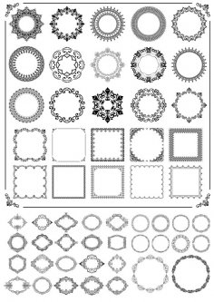 Ornamental Frames Free Vector
