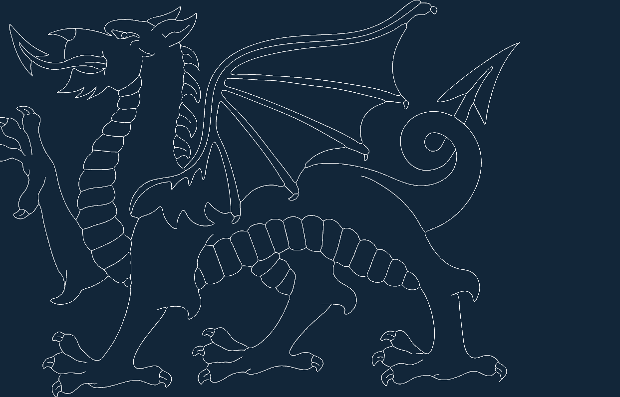 Welsh Dragon Dxf File Free Download 3axis Co