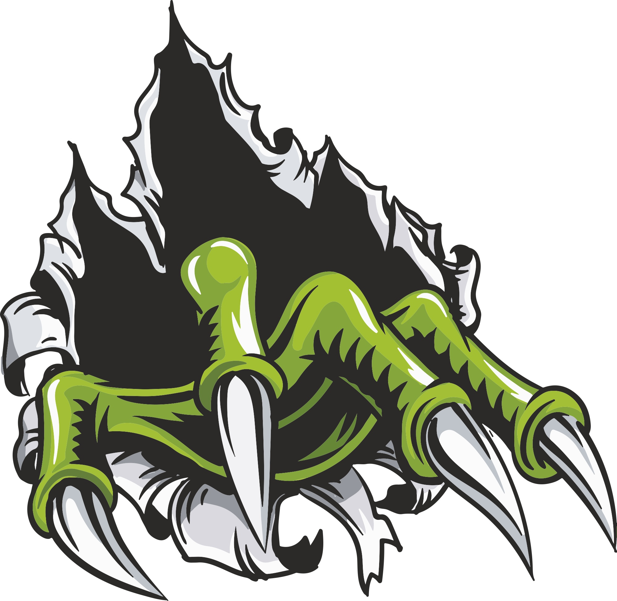 Monster Hand Decal Free Vector