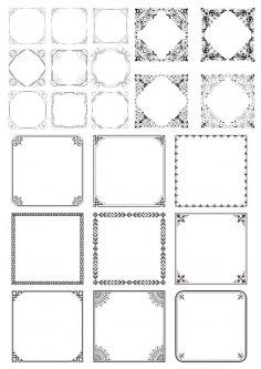 Border Frames Free Vector