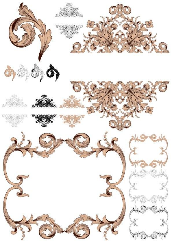 Classical Baroque Ornaments Free Vector