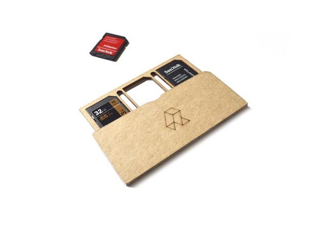 Laser cut SD Card holder Ai File