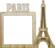 Laser Cut Photo Frame Paris