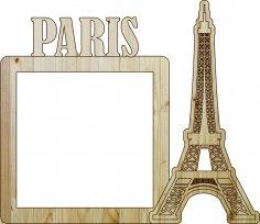 Laser Cut Photo Frame Paris