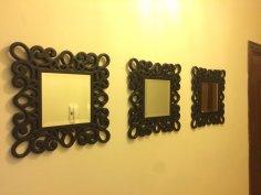 Elegant Mirror Frame DXF File