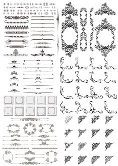 Dividers and Design Elements Free Vector