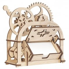 Card holder Mechanical 3D wooden puzzle Box 4 Mm DXF File