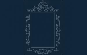 Mirror Frame DXF File ayna
