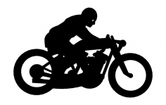 Dirt Track Motorcyle dxf File