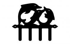 Dolphon Hooks dxf File