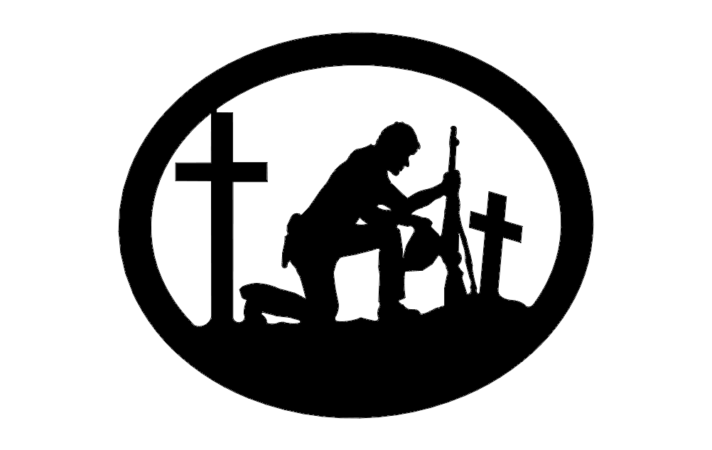Soldier With Crosses dxf File