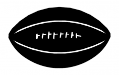 American Football dxf File