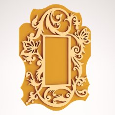 Scrolled Mirror Frame CNC Router DXF File