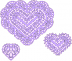 Three Hearts Free Vector