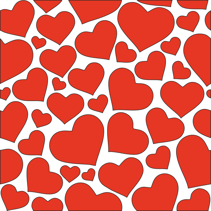 Hearts seamless pattern clipart vector Free Vector