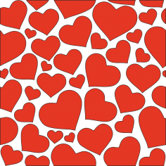 Hearts seamless pattern clipart vector CDR File