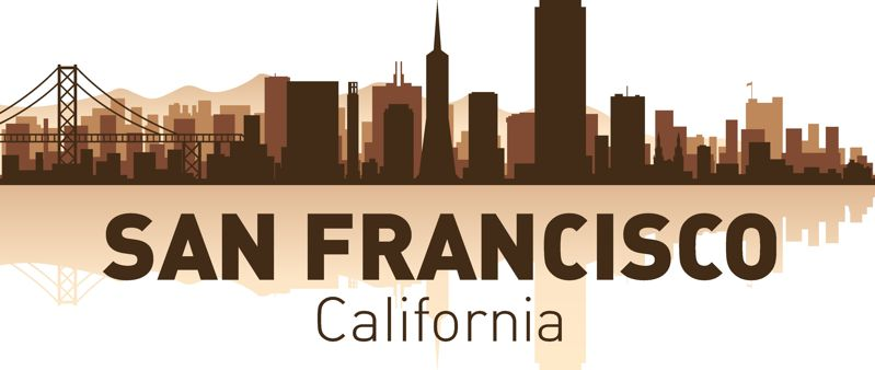San Francisco Skyline Vector Art Free Vector